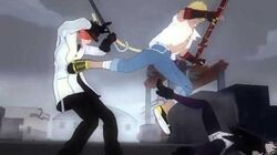 Blake, Sun and Penny vs Roman and the White Fang