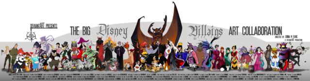 File:Big disney villains art collab by tavington-d349p3j.png