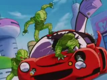 Saibamen as they briefly appear in Dragon Ball GT