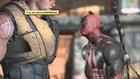 Deadpool being Bored by Cable