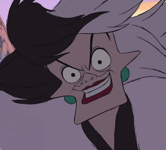 File:Cruella de Vil smirking evilly.png