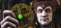 Mortal Shinnok holding Amulet MKX