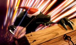 Black Wolf on sleigh