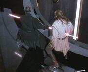Darth maul matando a qui-gon jinn