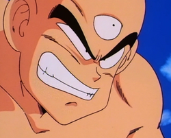 Tien's battle grin