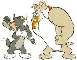 Tom with Jerry & Spike