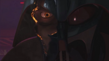 Vaders face and eyes