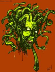 Undead Medusa Head