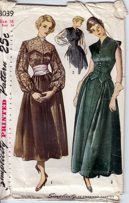 1950s vintage dress pattern from Penelope Rose (3)