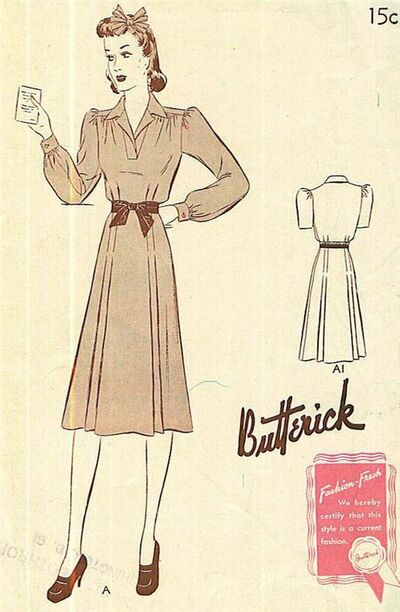 1 Butterick 9141 dated 1940