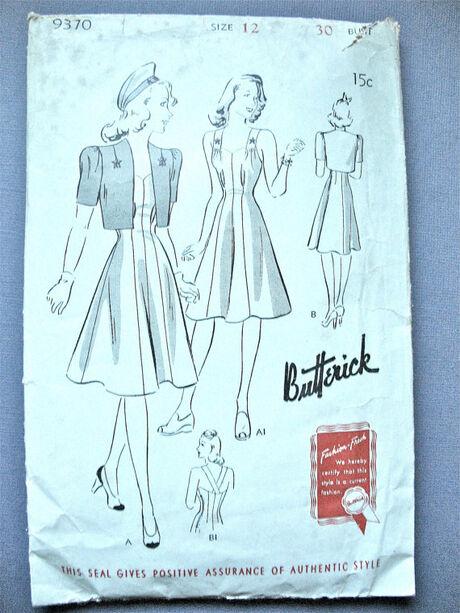 Butterick 9370 A