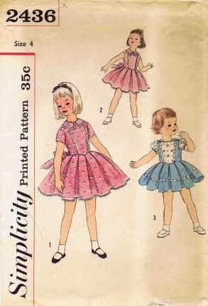 Simplicity 1958 2436