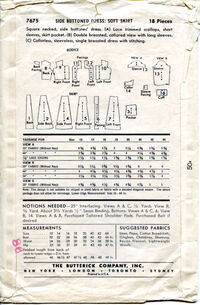 Butterick 7675 back