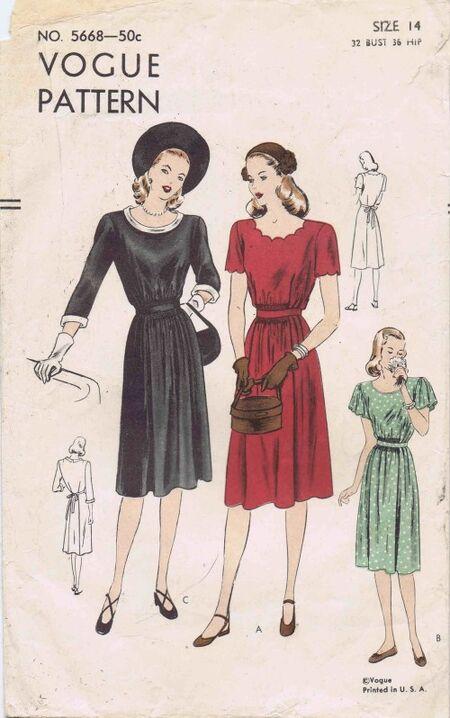 Vogue 1946 5668
