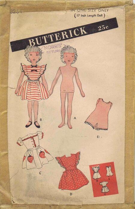 Butterick 1945 3254
