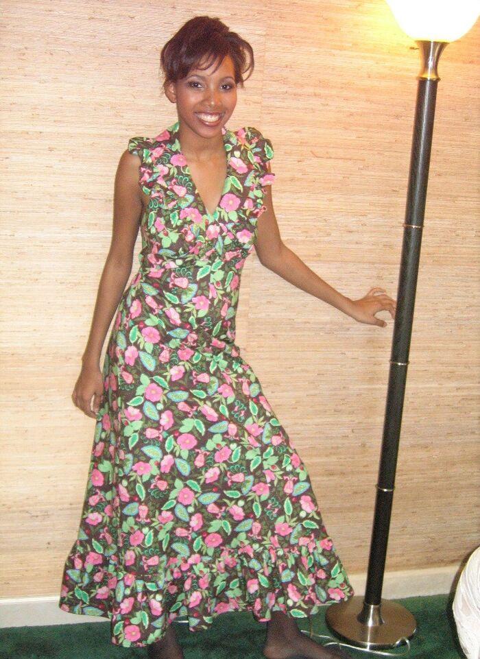 70' Vintage style halter dress