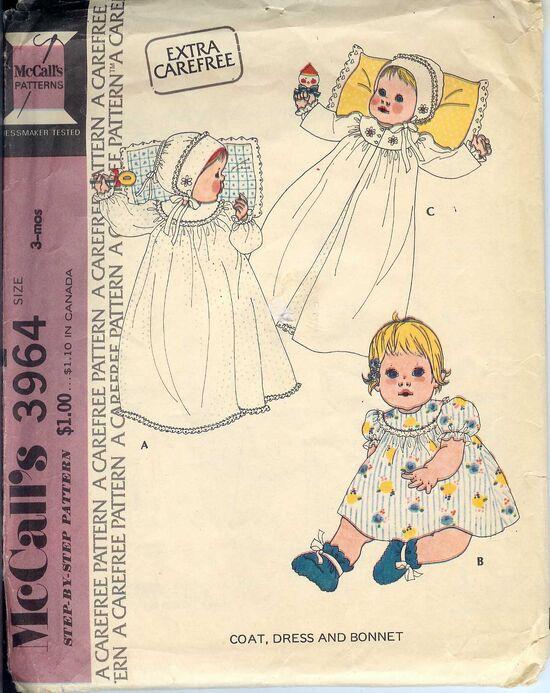 W-3964M 1974 InfantDress3mo