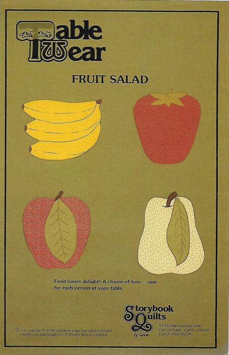 Table wear fruit salad