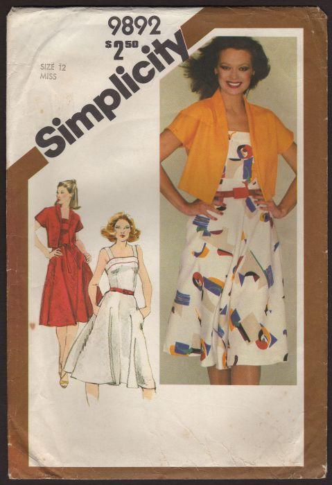 Simplicity 9892 A