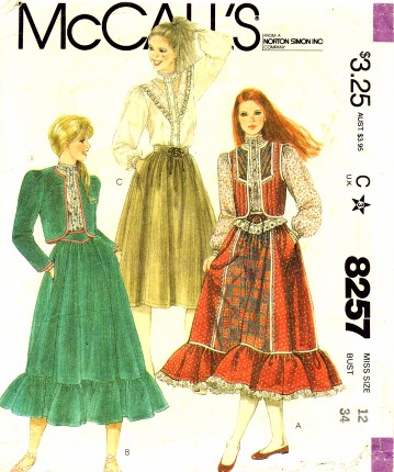 McCalls 1982 8257