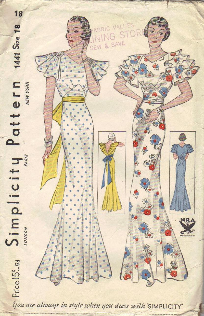 Simplicity 1441 A Vintage Sewing Patterns Fandom