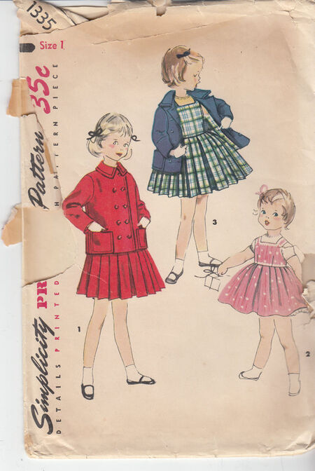 Vintage toddler dress pattern