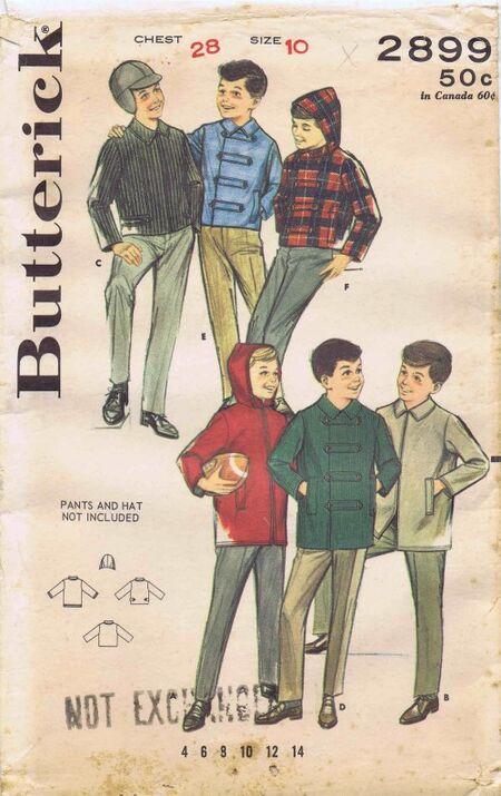 Butterick 1964 2899