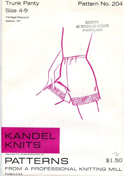 Kandel Knits 204 Sewing Pattern at Designrewindfashions on Etsy Design Rewind Fashions on Etsy a