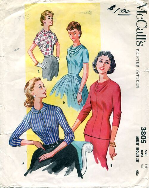 McCalls 3805 Sewing Patterns at Design REwind Fashions on Etsy a