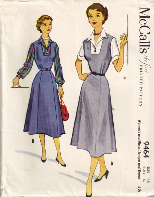 C1953 9464 Mccalls dress sz18