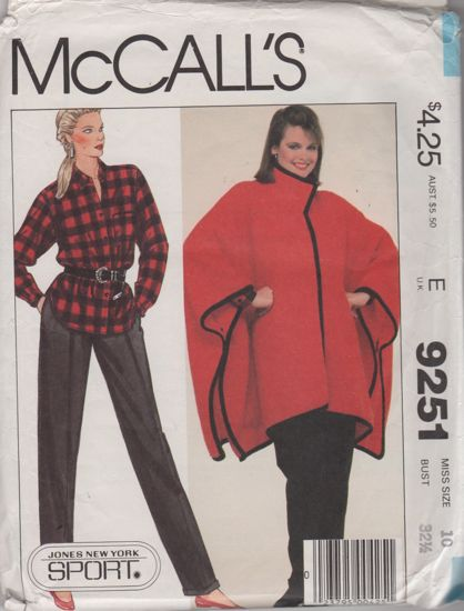 McCalls 9251 Poncho Shirt and Pants