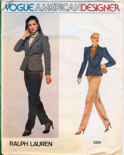 2354V 1980s R Lauren Jacket Pant