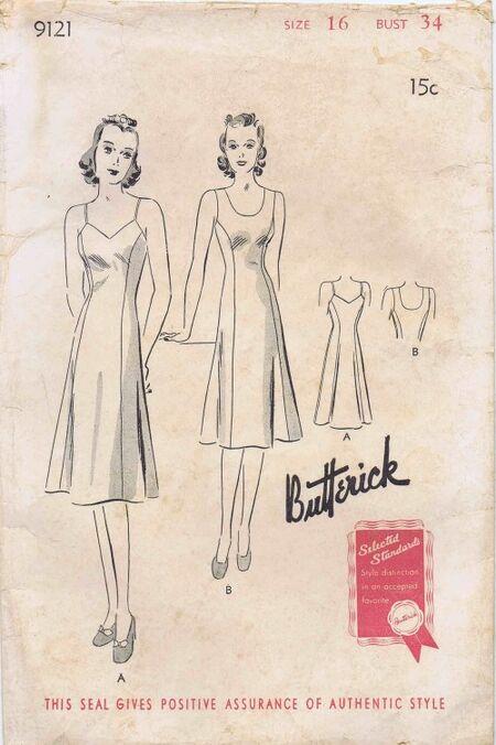 Butterick 1940 9121