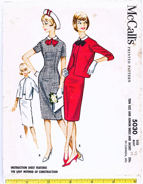 1959 Sheath Dress Kimono Jacket-cropped