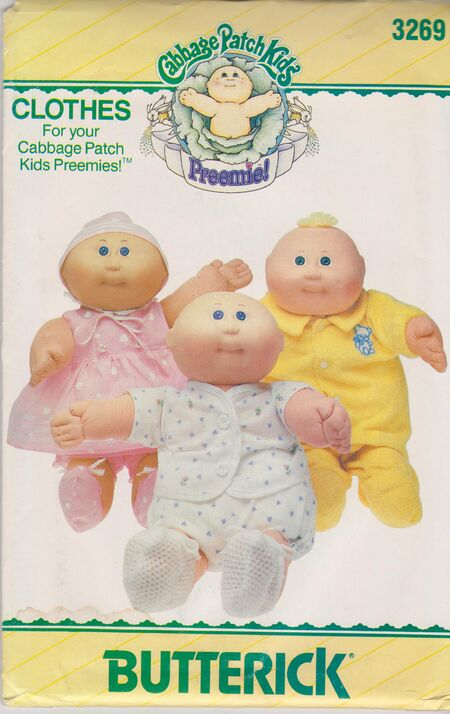 Butterick 3269 Cabbage Patch Premie Clothes