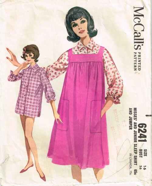 C1962 6241 McCalls Night Shirt 16