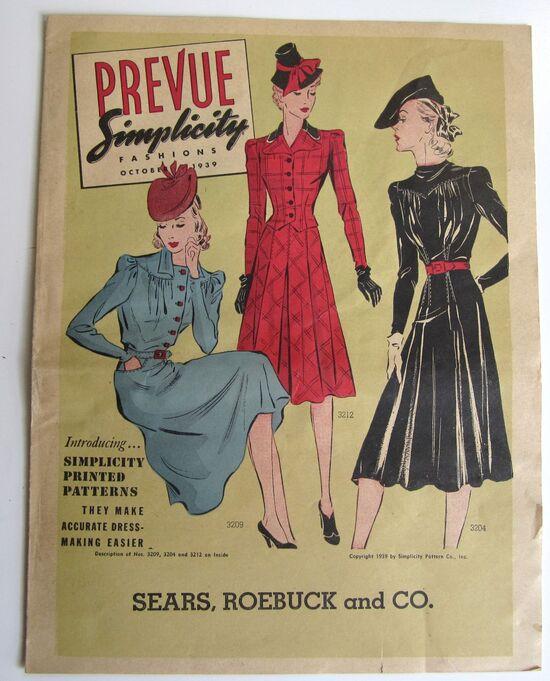 Simplicity Prevue October 1939