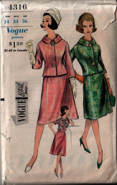 Vogue 4316 front