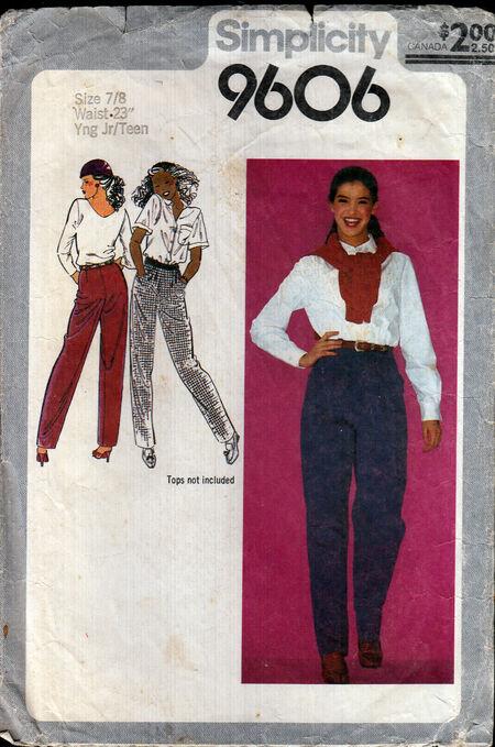 Penelope Rose vintage sewing pattern 1980s girls teen jeanson Artfire