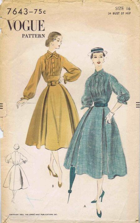 Vogue 1952 7643