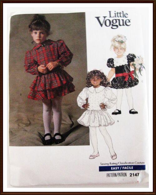 LITTLE VOGUE Dress Pattern 2147 front