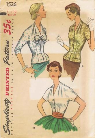 Simplicity 1956 1526 F Size 12