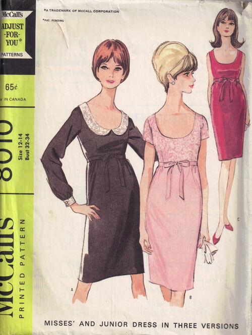C1965 8010 McCalls Dress
