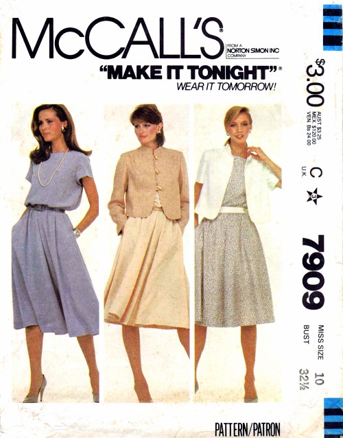 McCalls 1982 7909