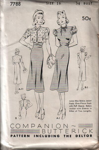 Butterick 7788 front