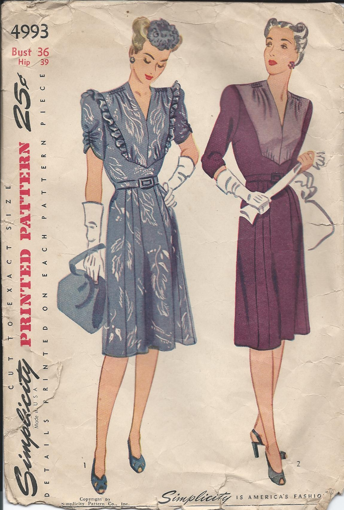 Simplicity 4993 A | Vintage Sewing Patterns | Fandom powered by Wikia