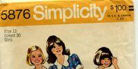 Simplicity 5876 A