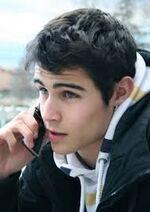 Pablo on his phone