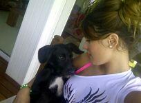 Martina and a dog