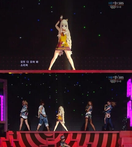 File:SeeU + GLAM collaboration concert @ Inkigayo.jpg